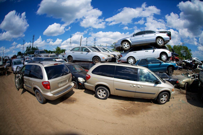 Bunch of Cars in Scrapyard