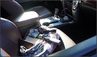 Personal Belongings Inside a Car